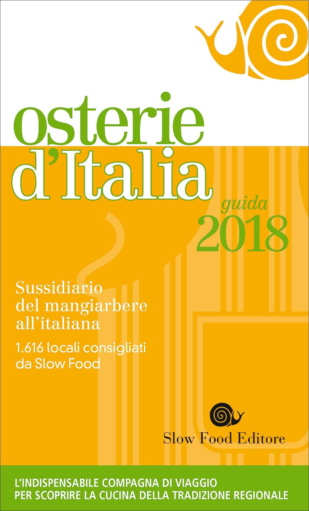 Osterie Italia 2018 copertina